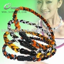 fashion germaniun titanium energy braided necklace 2012