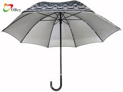small 8 panels sunshine umbrella with dog tooth edge