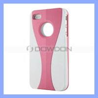3 Pieces Matte Wineglass Pattern Plastic PC Hard Case for iPhone4 4G 4GS 4S Pink/White