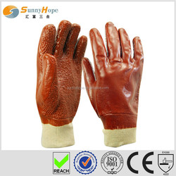 Sunnyhope PVC towel line oil and gas safety gloves