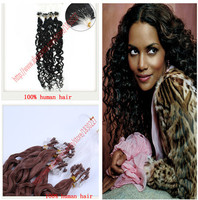 Hair Micro links Loop Ring Hair Silicone Natural Hair Extensions Beads Malaysian deep wave 20 0.5g/pc 100s/lot mira Curly Hair