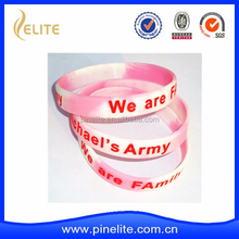 custom promotional swirl and ink- filled logo silicone wrist band