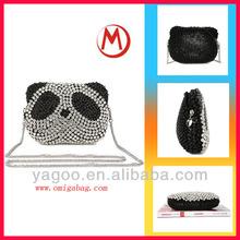 new design fashion durable panda shape bling bling pu handbag popular lady elegant tote bag 2014