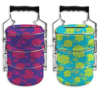 Nostalgia 3layer or 4layer enamel tiffin carrier camping food carrier Storage Boxes