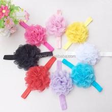 Big flower lace infant baby headband manufacturer