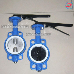factory price of Cast Iron Worm Gear Operated wafer Butterfly Valves