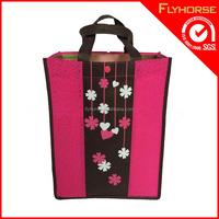 whosale hot sale special design silk printing non woven tote bag