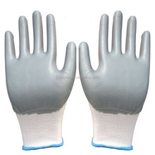 nitrile coated gloves 13G knitted nylon glove