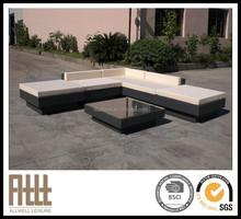 New design flat poly rattan corner diwan rattan balcony sofa set AWRF5036B