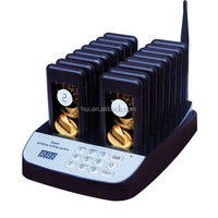 Queue wireless calling system,wireless calling system, wireless waiter call1 keypad call buttons and 16 receivers