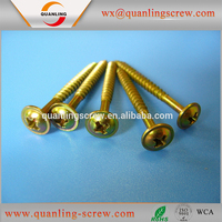 3.5*40mm Flanged head phillips color zinc plated self tapping screw