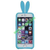 Hot Sale Cute Rabbit Design Silicone Case Cover for iPhone 6 with Stand