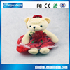 LED Bear shape and touching and sound sensitive plush toy with night lamp and funny light