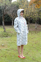 Ladies PU rain long coat rainwear raincoat fashion cute good quality cheap price