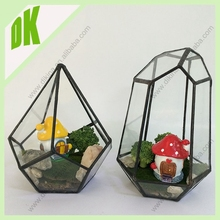 ~ Perfect gift for wedding! made by hand from clear glass, Lead - free solder decor geometric glass jam jar