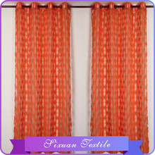 2015 nuevo de alta calidad naranja cortina que teje Burn out visillos cortinas venta al por mayor