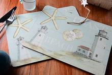 Heat Protective Custom printing dinning corkback placemat