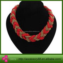 Bohemia Bead Crochet Necklace, summer style Beaded Necklace
