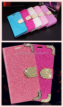 2015 new fashion glitter with diamond phone case for samsung S5