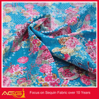 Fabric textile embroidery cheap for decoration velvet fabric foam back