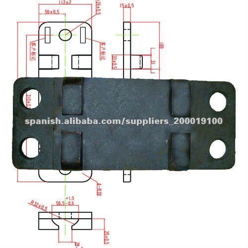 Ate placa / placa base / riel de placa / placa carril de soporte