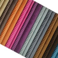 Super soft velvet burnout stripe short velboa flannel hotel living room sofa fabric KTV upholstery wall decoration fabric