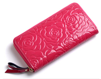 New Genuine good leather brand women wallets Crocodile 3D purse wholesale fashion leather wallets hot selling