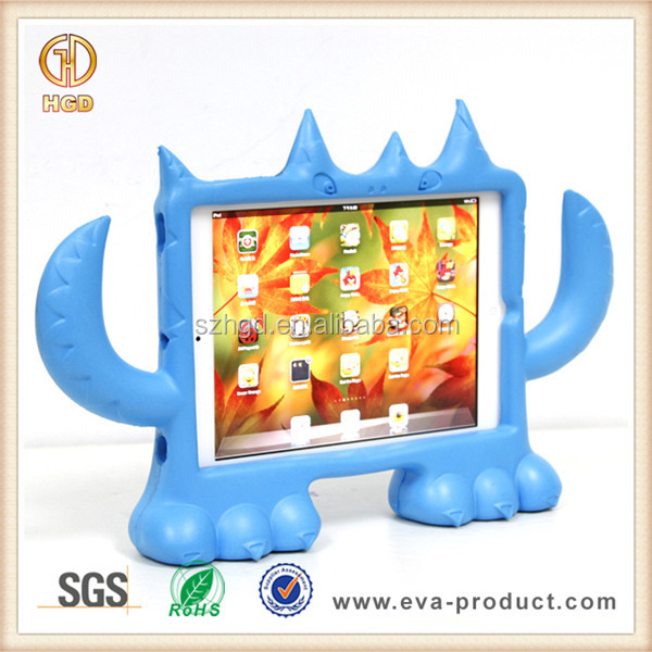 Kid proof EVA foam monster cute animal case for ipad mini