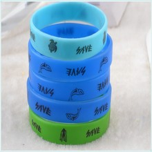Factory directly cheap printed Silicon Bracelet with customized logo wholesale