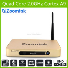 wholesale android smart tv set top box T8 ptv sports live streaming as seen on tv 2015