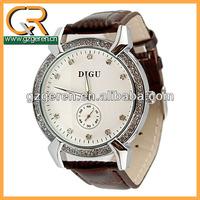 Fashionable vogue antique simple quartz ladies trendy leather watch123z