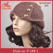 F-145 new winter fashion women knitted wool hat