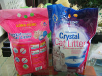white with 5% indicator cat litter,crystal cat litter,odor control pet product
