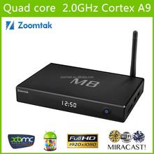 OTT Full HD 2GB RAM 8GB ROM Dual wifi XBMC Amlogic S802 Android 4.4 quad core M8 android tv box