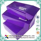 Ondulado sapato forma roxo impressão personalizada pequeno caixa para embalagem