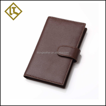 Famous brand business credit card holder case wallet genuine leather