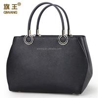 Guangzhou 2015 full grain leather women handbag 100% genuine leather cool design