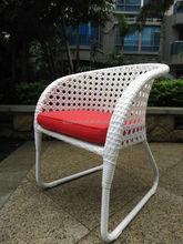 aluminum frame white rattan cafe chair, garden patio chair