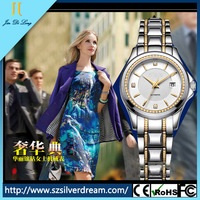 2014 Women's Tungsten Steel Elegant Luxury Auto Mechanical Date Sexy Watches