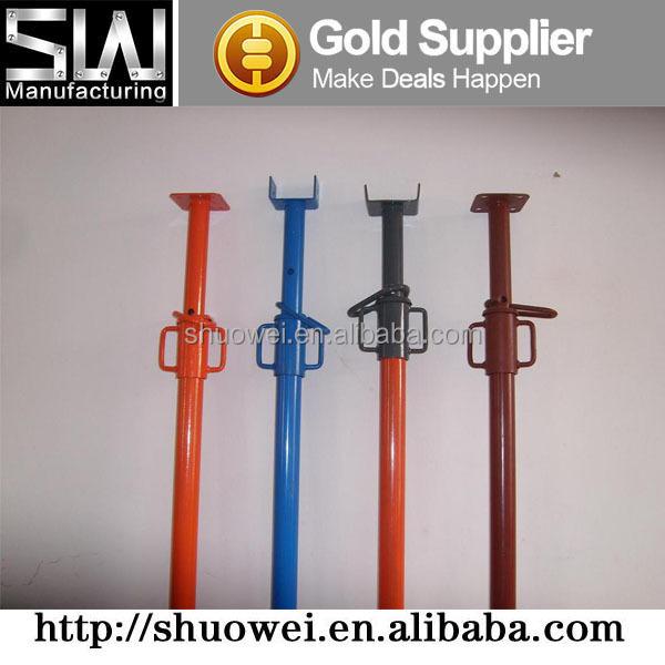 Adjustable Steel Post Shores : Formwork adjustable steel jack shoring post