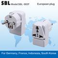 Enchufe conversión, enchufe Europeo, alta calidad adaptador calibrador Europeo