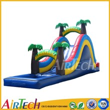 shanghai water slides commercial PVC water slip and slide inflatable giant water slide for adult