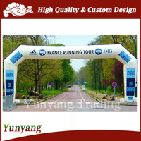 2015 Custom advertising white inflatable arch