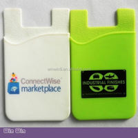 Self adhesive card holder/mobile phone card pouch, cell phone credit card holder silicone case cover