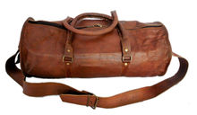 Real leather travel bags and leather duffel bags for army / military