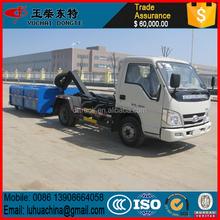 dongfeng4x210cbmเบ็ดแขนรถบรรทุกขยะ190hpราคาถูกสำหรับการขายในประเทศจีน