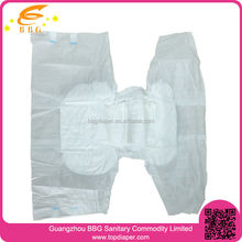 Economic and dry surface free samples of diapers for adults