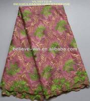 wedding dress fabric african swiss cotton lace of VL10712-4