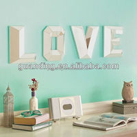 Four letters show your love decorative wall mirrors