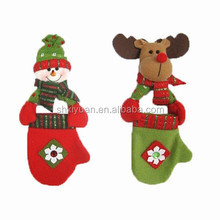 christmas glove ornament/promotional kids plush christmas glove /christmas tree ornament